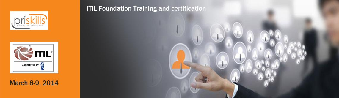 Book Online Tickets for ITIL Foundation Certification at Bangalo, Bengaluru.  ITIL( IT Infrastructure library ) Training and Certification - The best training you can opt to improve your employment prospects.  Training is suitable for 1) Individuals who require a basic understanding of the ITIL framework and how it