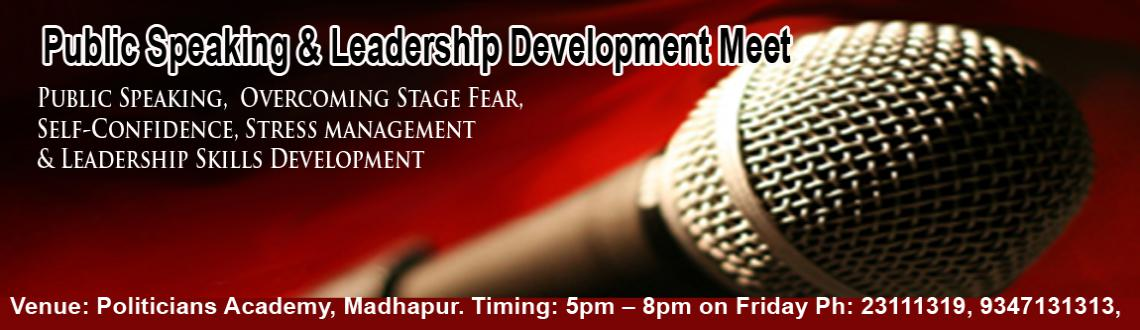 Book Online Tickets for Public Speaking and Leadership Developme, Hyderabad. Dear Friends,