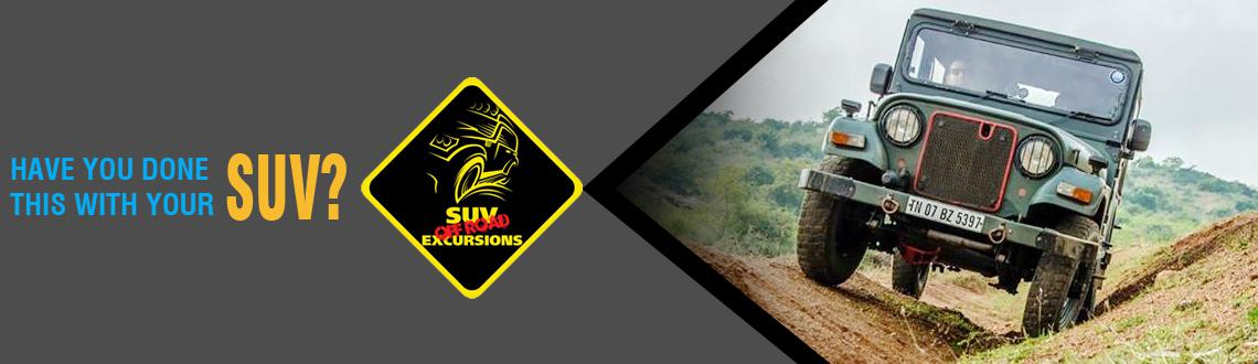 Book Online Tickets for SUV Off-Road Excursions May 2014, Chennai. This is a non competitive off road event. The trail has been designed to give SUV owners the experience of handling their vehicles off road.