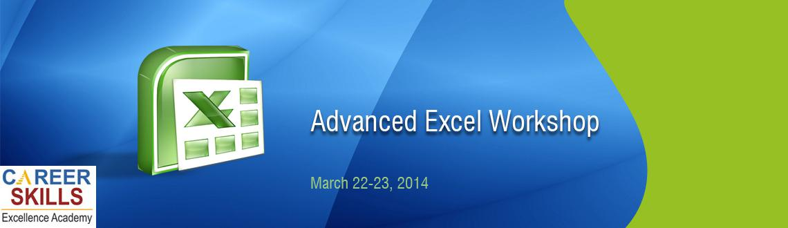 Advanced Excel Workshop conducted by Career Skills Academy