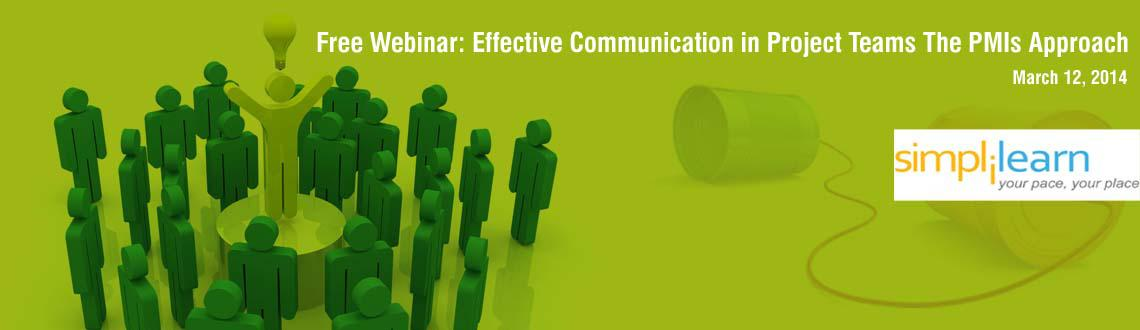 Book Online Tickets for Free Webinar: Effective Communication in, . Course:  PMP   