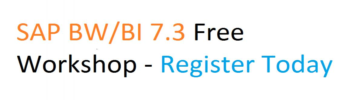 SAP BW / BI 7.3 Free Workshop on 15th, March - Marks Solutions