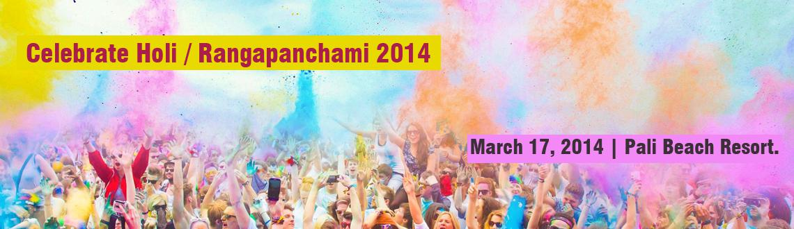 Celebrate Holi / Rangapanchami 2014 in Mumbai Hotel - Pali Beach Resort.