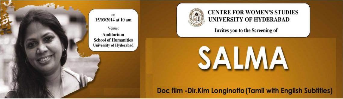 Book Online Tickets for Screening of SALMA, Chennai. 