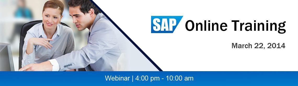 SAP Online Training - Till 22nd, March,2014