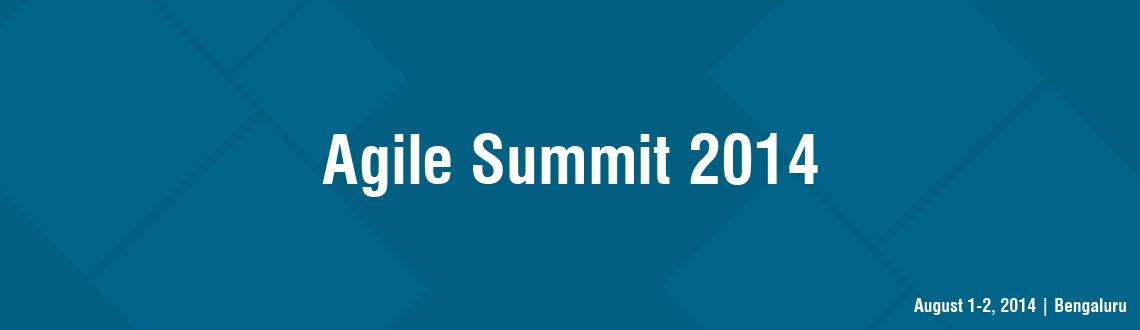 Book Online Tickets for Agile Summit 2014, Bengaluru. Agile Summit 2014 – Bangalore is a premium two day international conference organised by group of enthusiast and volunteers ofAgile Network India.   More details at www.agilesummit.org Reach at : contact@agilesummit.org