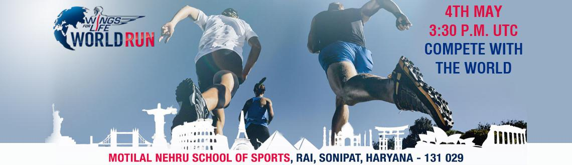 Book Online Tickets for The Wings for Life World Run, Sonipat. The Wings for Life World Run is the first of its kind marathon that would unite passionate runners from across the globe on one day. The marathon would have runners from across the globe running on over 35 different race tracks at the same time on Ma