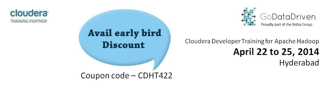 Book Online Tickets for Cloudera Hadoop Developer Training at Hy, Hyderabad. Course OverviewThis four-day training course is for developers who want to learn to use Apache Hadoop to build powerful data processing applications. Prerequisites:This course is appropriate for developers who will be writing, maintaining and/