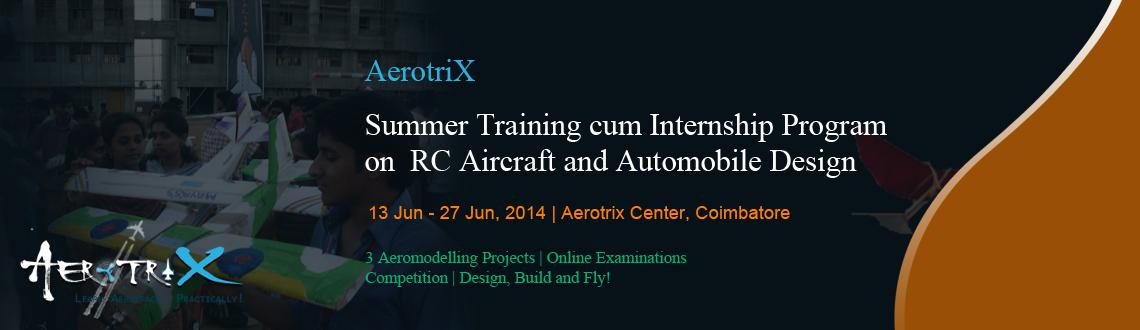 Summer Training cum Internship Program on RC Aircraft and Automobile Design at Coimbatore