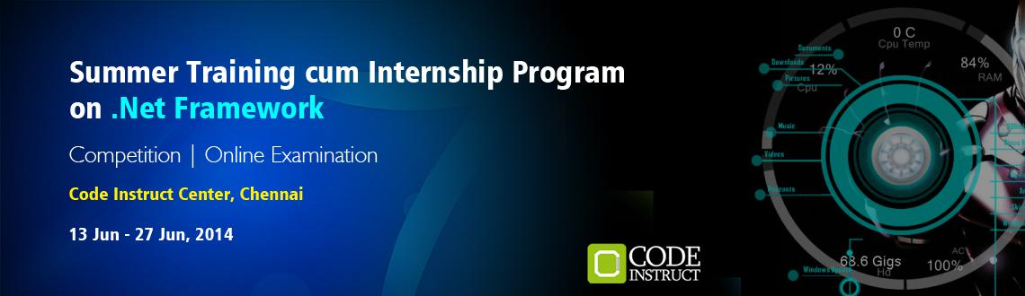 Summer Training cum Internship Program on .Net Framework at Chennai