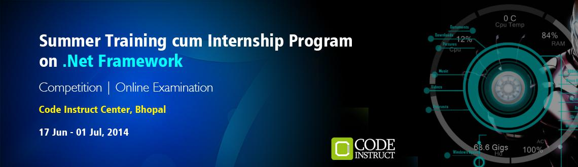 Summer Training cum Internship Program on .Net Framework at Bhopal