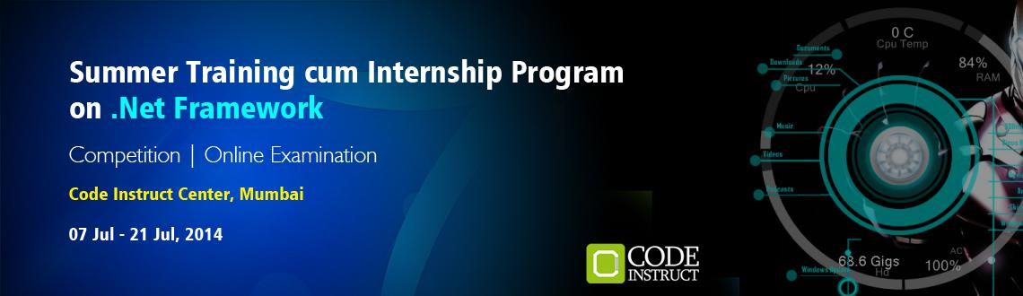 Summer Training cum Internship Program on .Net Framework at Mumbai