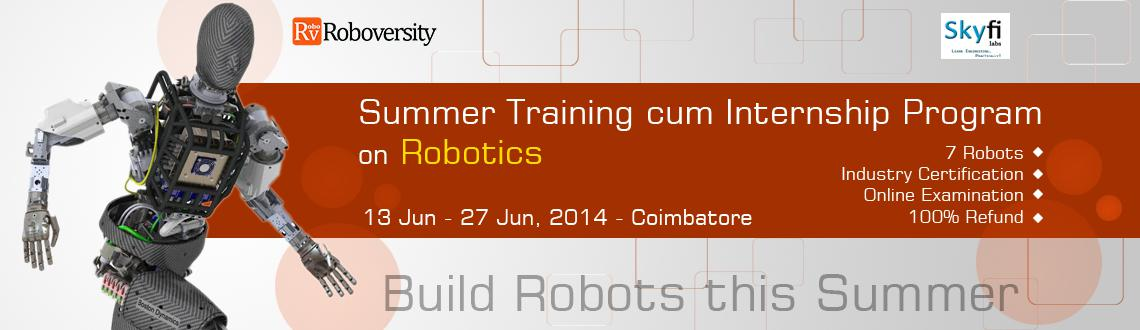 Summer Training cum Internship Program on Robotics at Coimbatore