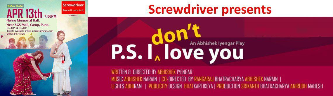 Book Online Tickets for P.S. I Dont Love You, Pune. This ultra hilarious romantic comedy play has been part of the Deccan Herald Theatre Festival. It has been well received across India and will hit Pune soon.