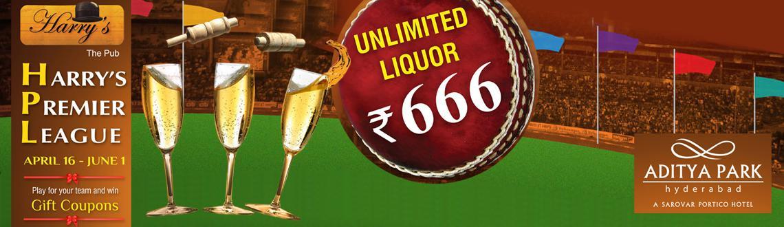 Harrys Premier League - Unlimited Beverages for IPL Matchs
