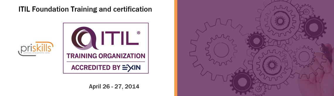 Book Online Tickets for ITIL Foundation Training at Bangalore , Bengaluru.  