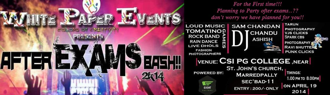 After Exams Bash 2014