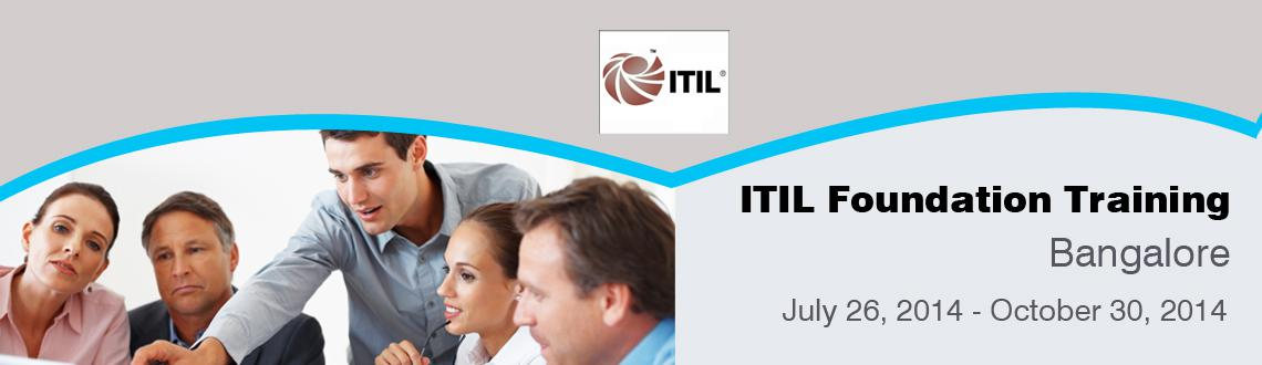 Book Online Tickets for ITIL Foundation Training in Bangalore , Bengaluru. ITIL® Foundation Certification Training in Bangalore