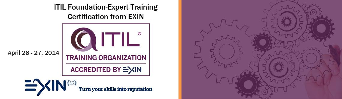 ITIL Foundation-Expert Training  Certification from EXIN
