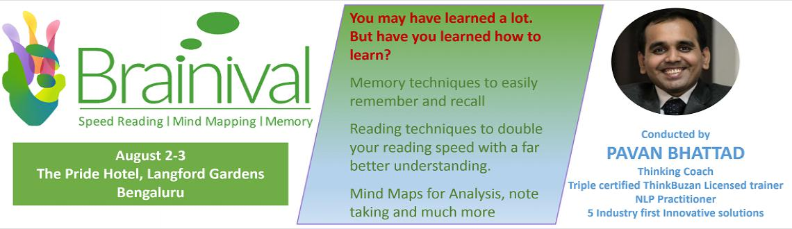 BRAINIVAL - Bangalore - Speed Reading, Mind Mapping, Science of memory