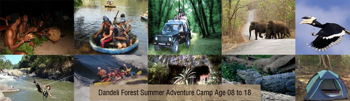 Book Online Tickets for Dandeli Forest Summer Adventure Camp Age, Pune. This summer join us on camping trip to the deep forests of Dandeli in North Karnataka. The land of elephants, crocodiles, bisons, black panther, deer, gushing - crystal clear waters of Kali river and ancient Cavala caves. Abundant nature makes Dandel
