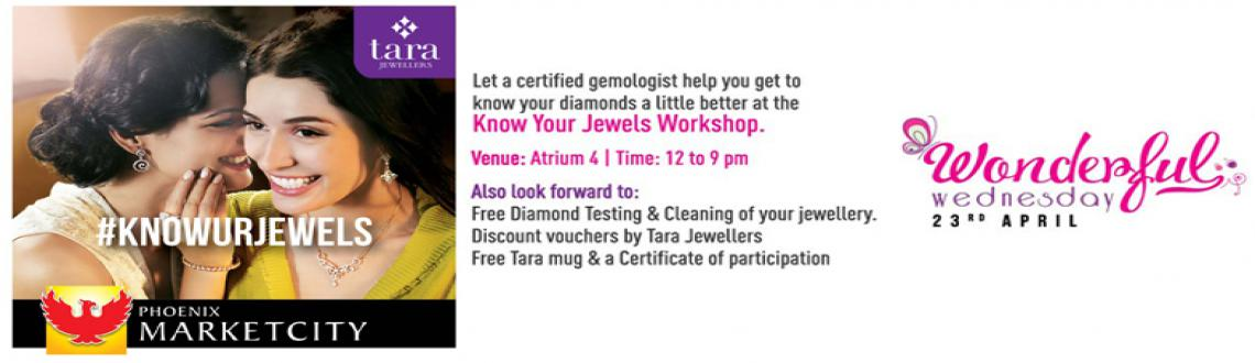 Book Online Tickets for Know Your Jewels, Mumbai. Tara Jewellers store in Phoenix Marketcity Kurla is conducting a Know Your Jewels workshop on Wednesday, 23rd April 2014. The workshop will• Educate participants on the 5Cs of identifying a genuine diamond• Offer free diamond testing and cl