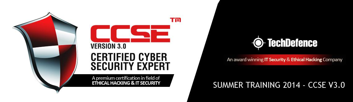 TECHDEFENCE SUMMER TRAINING 2014 - CCSE V3.0