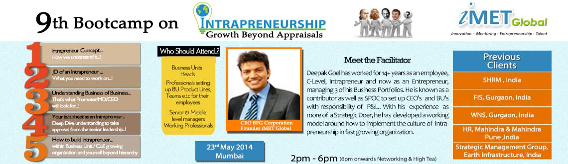 9th Bootcamp on Intrapreneurship: Growth Beyond Appraisals - Mumbai