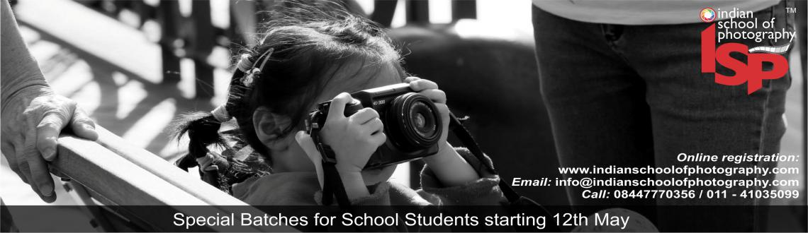 Book Online Tickets for Summer Photography Workshop for School C, NewDelhi. This Summer let your children master the art of eternalising moments of their life by capturing them in a lens. Summer Photography Workshop for School Children is being organized for kids in Delhi, where they would be taught the basics of photography