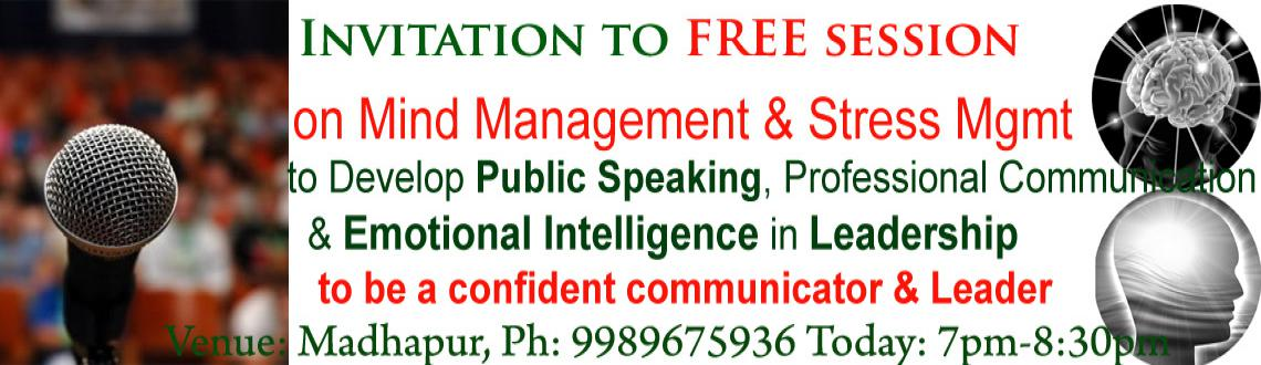 Invitation to 90 minutes FREE introduction session on Mind Management  Stress Management in the evening 7pm  8:30pm.
