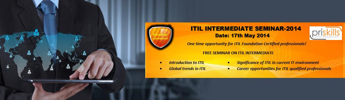 Free seminar on ITIL Intermediate by an expert trainer