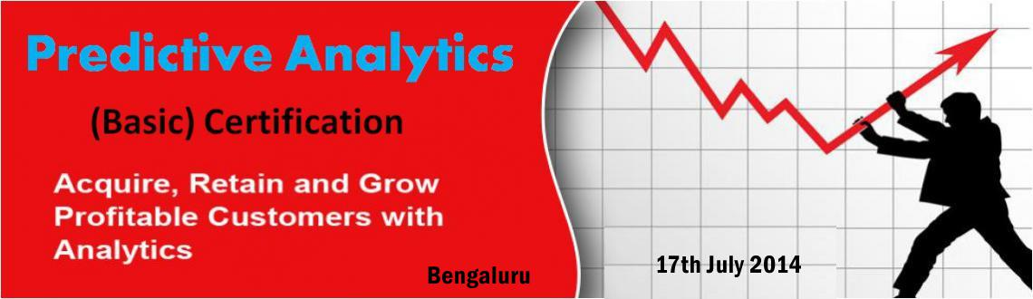 Book Online Tickets for Predictive Analytics Certification Train, Bengaluru. Predictive Analytics (Basic) Certification - Public / Open Training  eXample Consulting Group\\\'s\\\