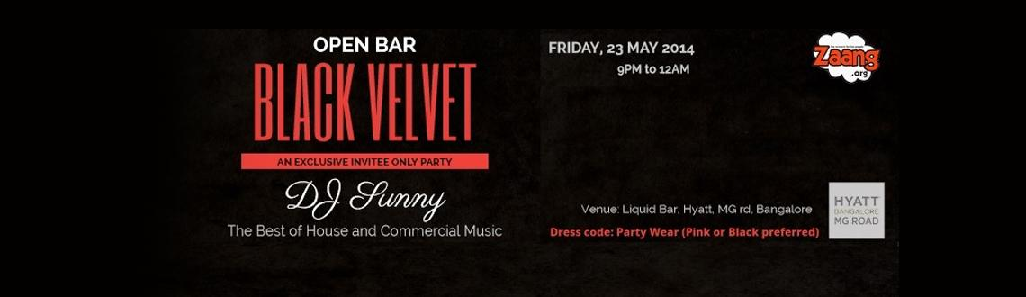 Black Velvet Party at Hyatt, MG rd, INR 1000 for Unlimited Drinks (from 9pm to 12am)