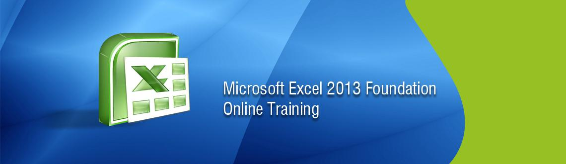 Microsoft Excel 2013 Foundation Online Training