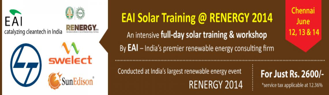 Book Online Tickets for EAI Solar Training , Chennai, Chennai. 