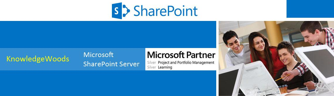 Book Online Tickets for MICROSOFT SHAREPOINT SERVER 2013  THE NE, Noida. KnowledgeWoods Consulting, a leading Microsoft Silver Learning Partner, announces a Five (5) Day Microsoft® SharePoint Server 2013 Certification Training in Delhi NCR.