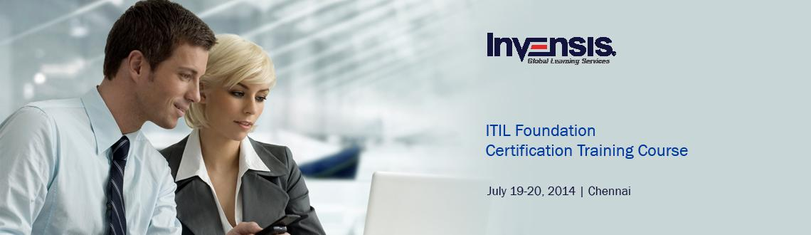 Book Online Tickets for ITIL Foundation Certification Training C, Chennai. Invensis Learning is conducting 2-day full-time TUV-SUD Accredited ITIL Foundation certification training course in Chennai, India along with ITIL Foundation Examination on the 2nd day of the training. Get ITIL Foundation certified in Chennai in 2 da