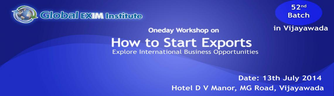 One day workshop in Vijayawada on How to Start Exports