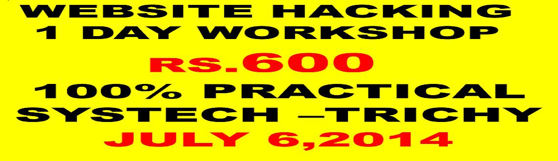 Book Online Tickets for WEBSITE HACKING   WORKSHOP, Thiruchira. Sql injection: 