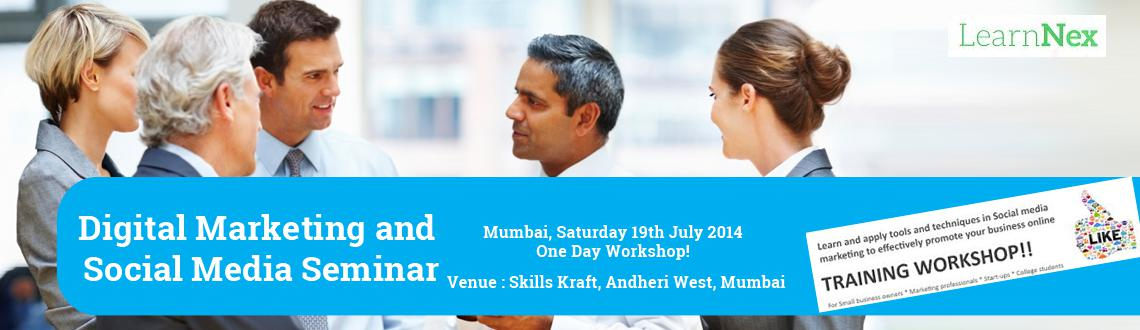 Internet Marketing and Social Media seminar on 19th July