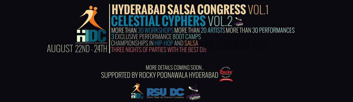 Book Online Tickets for Hyderabad International Dance Congress (, Hyderabad.    S No Workshop Date Register   1 HIDC Boot Camps 15th to 21st August 2014     2  3   HIDCCelestial Cyphers - Workshops  HIDCCelestial Cyphers - Championships   22nd to 24th August 2014