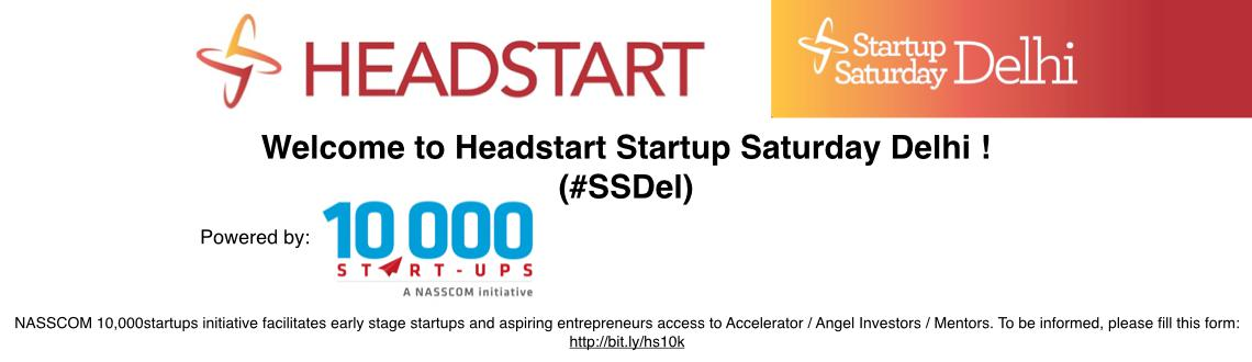 Book Online Tickets for Startup Saturday Delhi July 2014, NewDelhi. Theme: \\\