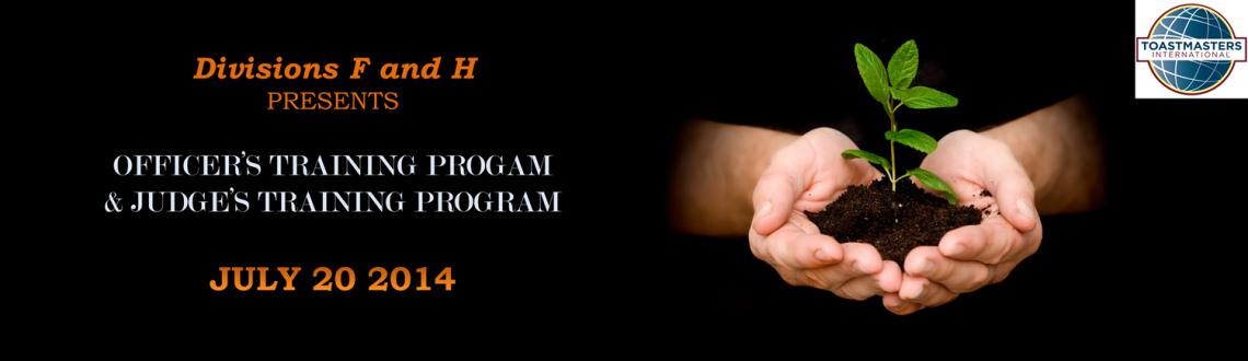 Book Online Tickets for OTP and JTP - July 2014, Hyderabad. Divisions F & H presents this year\\\'s first Officer\\\'s & Judge\\\'s Training Program.