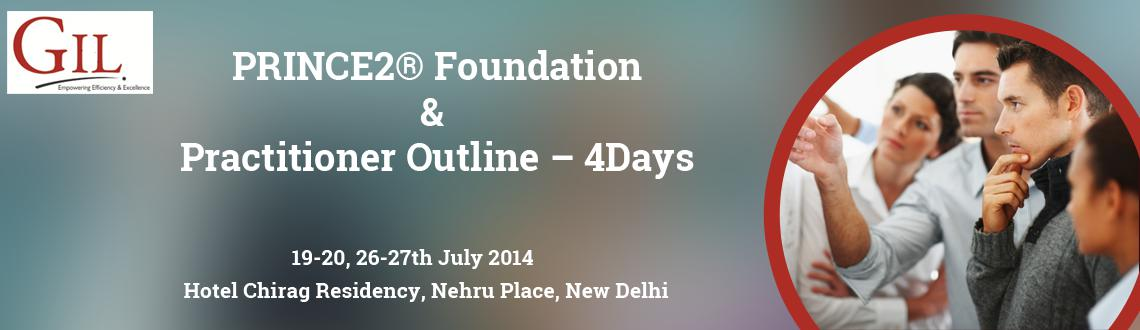 Book Online Tickets for PRINCE2Foundation and Practitioner Outli, NewDelhi. GlL Announces PRINCE2®Foundation and Practitioner Outline – 4Days  The PRINCE2® course will provide delegates with a detailed knowledge of the PRINCE2® methodology including the seven processes, seven themes and seven princi