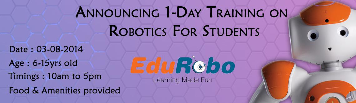 Book Online Tickets for 1-Day on Robotics for Students 03-08-201, Hyderabad. Technology has become a way of life and future times will see automation of processes. Robots are becoming an integral part of our lives. The future years in this 21st century will see people utilizing potential of robots to the fullest. It\\\'s this