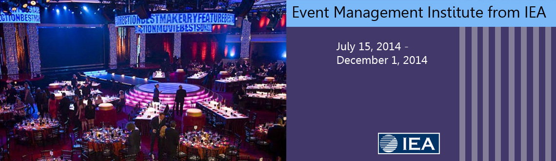 Event Management Institute from IEA Management - The Best Career Option