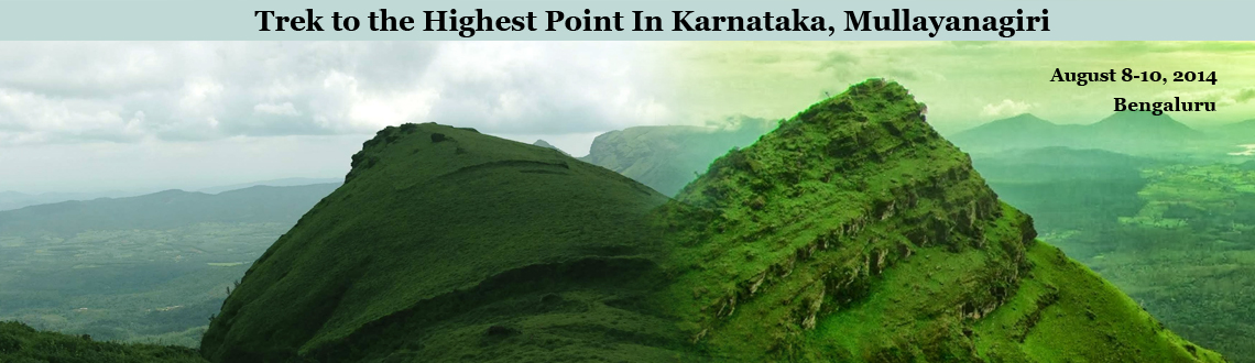 Book Online Tickets for Trek to the Highest Point In Karnataka, , Bengaluru. Mullayanagiri is the paradise of Western Ghats and is also the highest peak in Karnataka with coffee estates spreading at the foothills of the peak and the view captured by the eyes of the never ending meadows surrendering to the clouds from the top