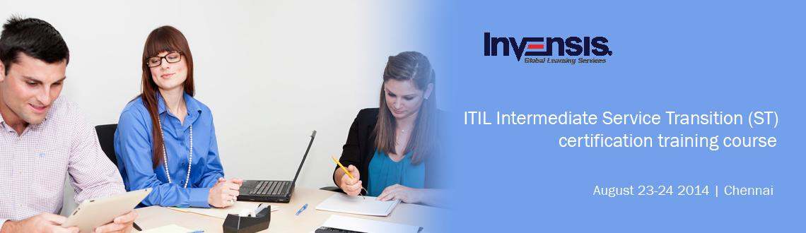ITIL Intermediate Service Transition (ST) Exam Prep Course Chennai, India