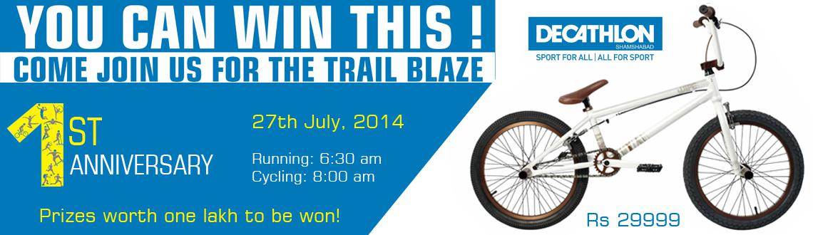 Trail Blaze 2014 - Cycling and Running at Decathlon