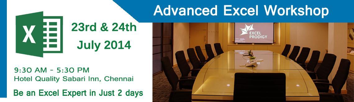 Exclusive Advanced Excel Weekday Workshop in Chennai
